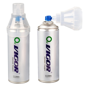 8 L AR-001 Tin Oxygen can with Mask