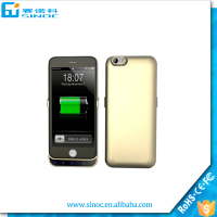 4000mah Pack Backup Battery Charger Cover For iphone 6 External Power Bank Case