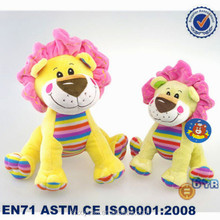 Yellow soft mini doll toys/plush lion products/baby toys plush