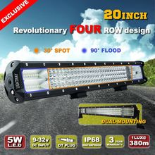 LiteWay 4x4 780w 12 volt 4 Row 20 inch Light Offroad Led Bar for Truck