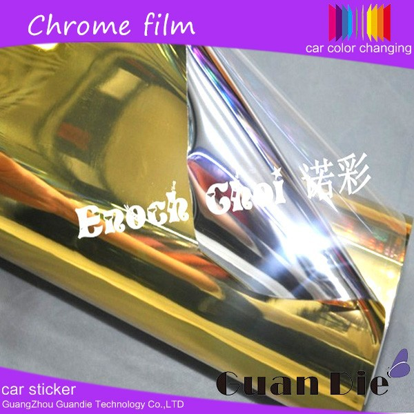 Guangzhou High quality Chrome mirror Diamond gold color protective body vehicle Wrap glitter vinyl film car Sticker
