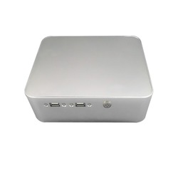 Lowest Price Industrial fanless aluminum case windows10 2 ethernet Barebone mini pc
