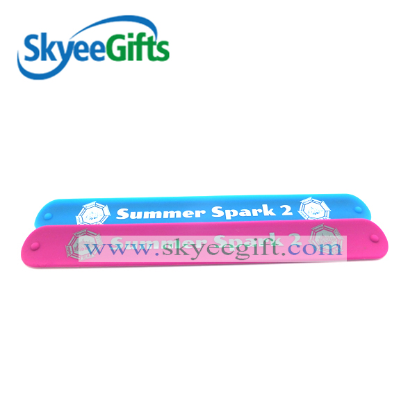 choose you own long silicone slap bracelet/wristbands