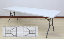 8FT Blow-molded dining/garden/banquet folding table capacity 10 persons
