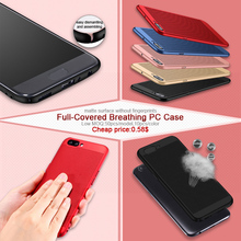 Hottest products 2017 Full-covered breathing PC cover leather cell phone back case for Redmi note 4x