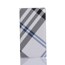 classic plaid flip card slot leather case for sony xperia xp