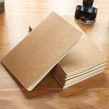 Cheap plain brown kraft paper student notebook printing