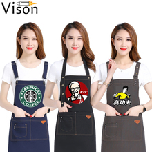 Unisex Blue Jeans Denim Jean Girth Chef Apron kitchen apron custom denim apron