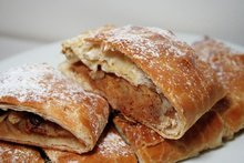 Frozen pastry apple strudel