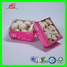 D225 Cheap Pink Art Paper Foldable Printed Mushroom Packaging Box