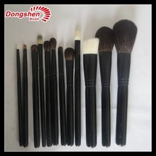Natural Hair Makeup Brush Set 12 PCS,Real Hair Makeup Brush Set,Wholesale Makeup Brush Kit