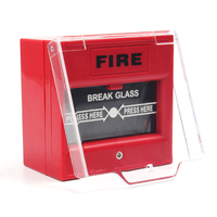 Wasion Fire Alarm Emergency Break Glass Manual Call Point With the water-proof cover