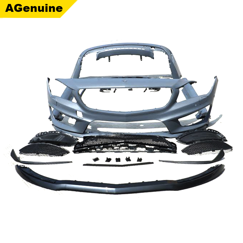CLA45 AMG conversion body kit front bumper side skirts rear bumper body kit for Mercedes-Benz CLA class <strong>W117</strong>