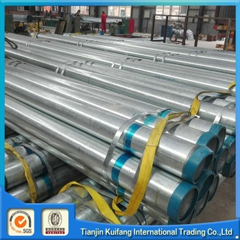 round galvanized pipe/galvanized steel support