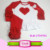 Hot Pink Girls Triple Ruffle Raglan Icing Ruffle Pants Wholesale Baby Valentines Day Girl Heart Outfit