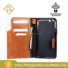 Genuine Vintage real Leather Case for phone(5.5 inches) Wallet Handmade Retro with Strap Luxury Case Wallet