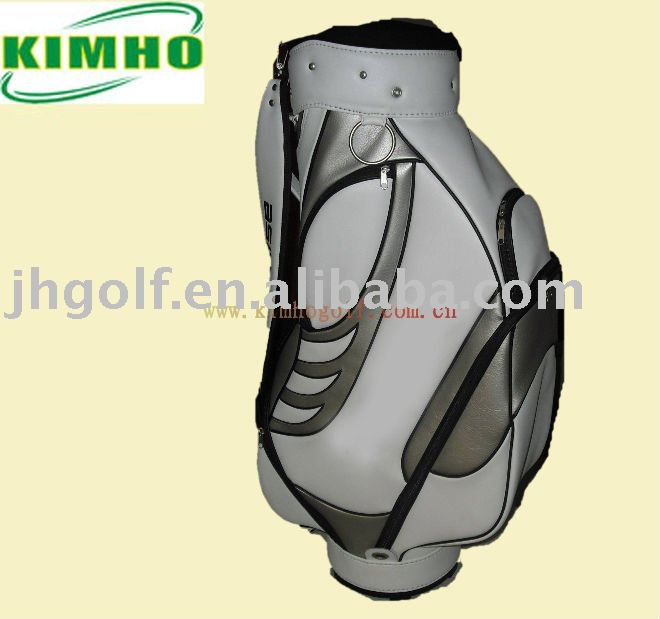 Proffesional custom leather golf cart bags