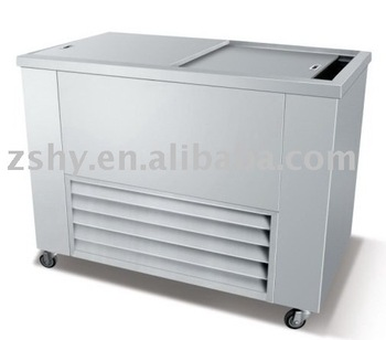 Refrigeration ice storage cabinet
