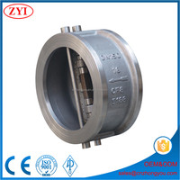 Top quality double disc swing type wafer check valve