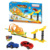 Chian hot sale educational assembly speed pull back railway track car toy