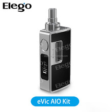 Joyetech eVic AIO Starter Kit 75W TC Single 18650 Box Mod Kits and 3.5ml Top Refilling Atomizer 100% Original vapes