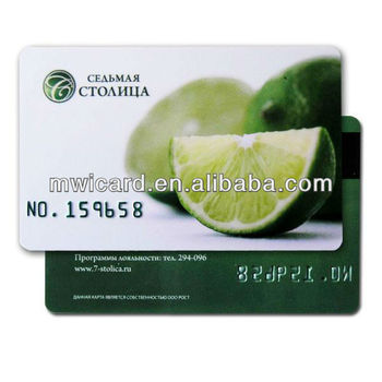 RFID Smart Silk Printing Embossed Card 13.65MHz Read&Write NFC IC Card