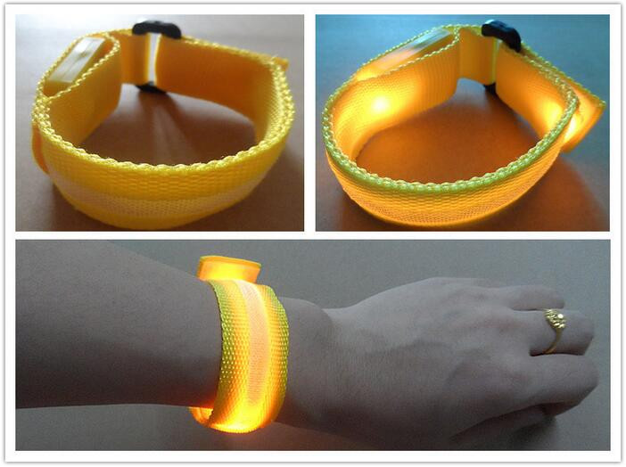 Nylon LED Sport Jogging Glowing Wrist Strap Band led running bracelet LED Flashing Bracelet For Birthday Party Festival <strong>Decor</strong>
