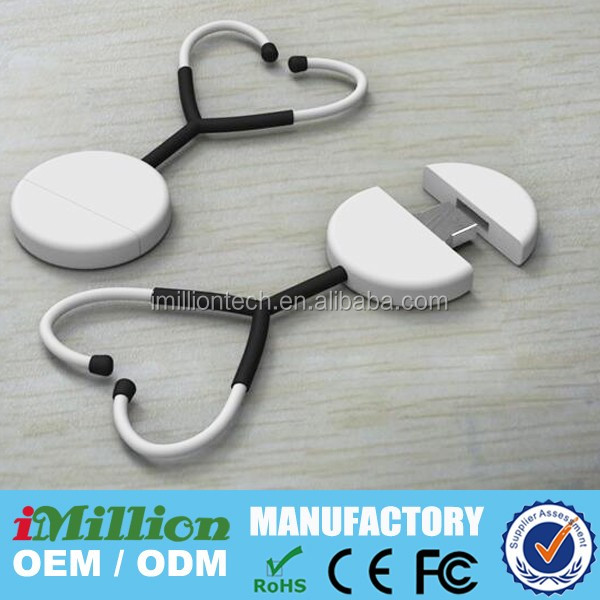 Hospital medical promotional gfits stethoscope shape usb, usb stethoscope shape, stethoscope usb flash drive