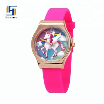 Hot Fashion Women Silicone Round Analog Quartz Wrist Watch