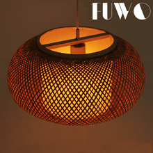 Natural bamboo decorative vintage ball rattan hanging pendant lamp bamboo lamp shades lighting manufacture in Zhongshan