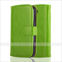 Premium Leather Wallet Folio Cover Case For Samsung Galaxy S4 i9500