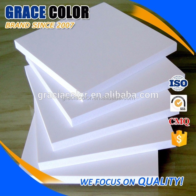 Carving and engrave sign material white 3d rigid foam pvc sheet