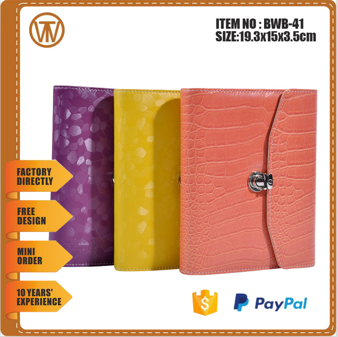 BWB-41 Cheap student planners with cheap price / leather cover agenda organizer planner notebook / cute planners