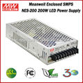 Meanwell LED Driver NES-200-24 (200W 24V 8.8A) Single Output Enclosed 200W 24V Meanwell SMPS Power Supply