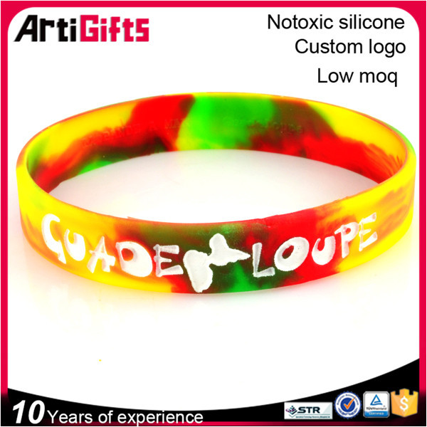 Eco-Friendly embossed silicone wristbands