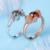 Newest design 925 silver ring women rose gold 100 languages love memory couple ring
