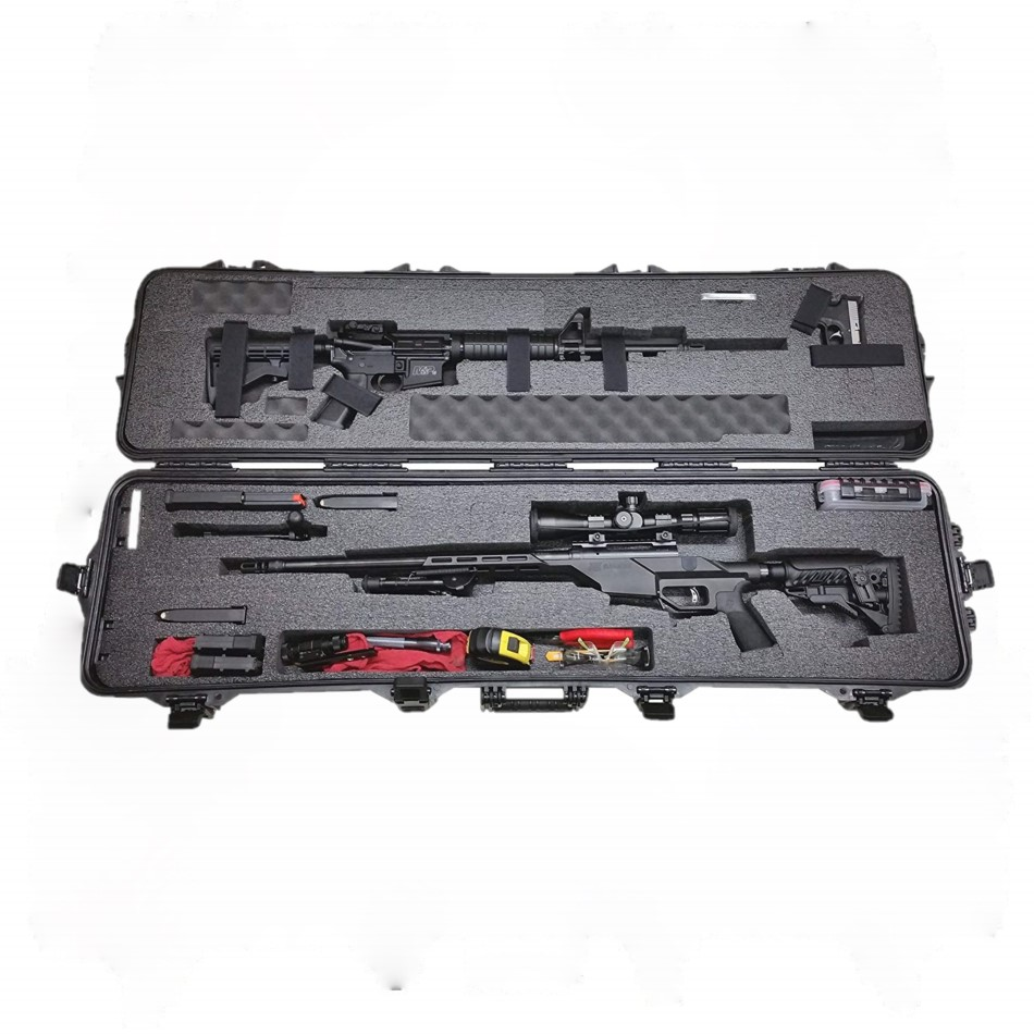 Hard <strong>plastic</strong> waterproof military <strong>case</strong> standard waterproof Shockproof long rifle <strong>case</strong> with lock