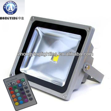 (zhongying)factory price 220v 12v 24v color changing outdoor led flood light 10w 20w 30w 50W 100w