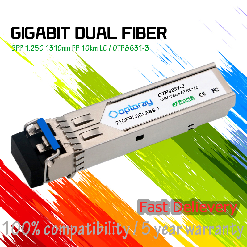 3CSFP82 3Com Compatible 100BASE-LX10 SFP 1310nm Single-mode 10km Dual LC SFP Transceiver Module FE, SDH, SONET, FTTx