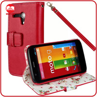 RF Manufacturer Book Style Pocket Pouch Flip Wallet Leather Case Cover for Motorola Moto G