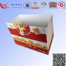 Disposable wax coated kraft paper fast food packaging box