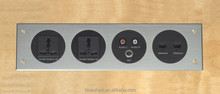 Multimedia Aluminum plug wall socket plate panelAluminum Alloy Panel VGA socket and earphone socket