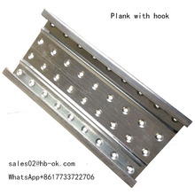 Scaffolding plank metal without hook