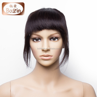 Factory Directly Price Silk Straight Human Hair Bangs Lace Wig with Side Bangs Bangs for Black Women