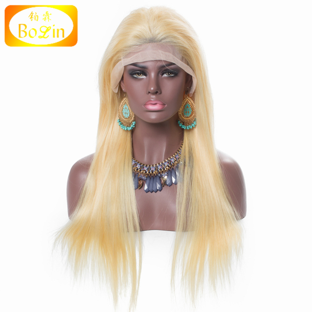 Wholesale 8A Grade Real Mink Brazilian Hair Lace Wig Blonde Brazilian Human Hair 13x6 Lace Front Wig