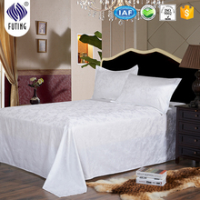 100% cotton Bed Linen five star hotel flat sheet white bed sheet
