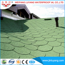 Fish Scale Shape Colorful Asphalt Roofing Shingle