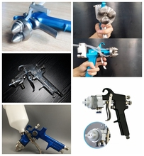 liquid image NO.SG3H triangle mirror effect chrome spray painting gun ,three heads spray gun