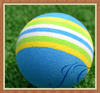 Wholesale colorful pu golf ball/practice golf balls for giveaway