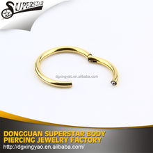 Silver gold septum clicker body piercing jewelry